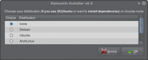 Daimonin Installer - Distribution list